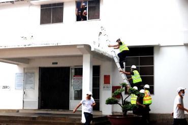 Diễn tập chữa cháy tại ABMV